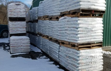 Pallets of Wood Pellets