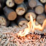 Wood Pellets Burning