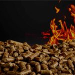 Wood Pellets with Fire