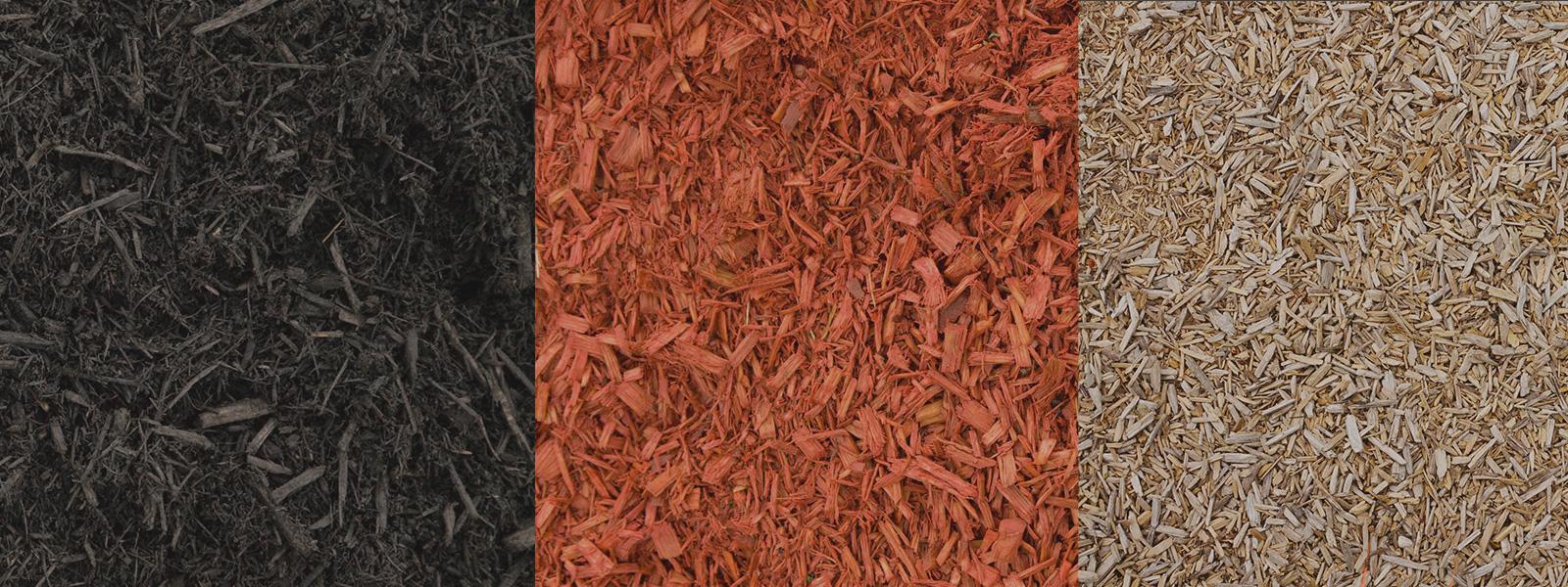 Black, Red & Beige Mulch